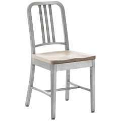 Emeco Navy Chair in Brushed Aluminum and Ash by US Navy