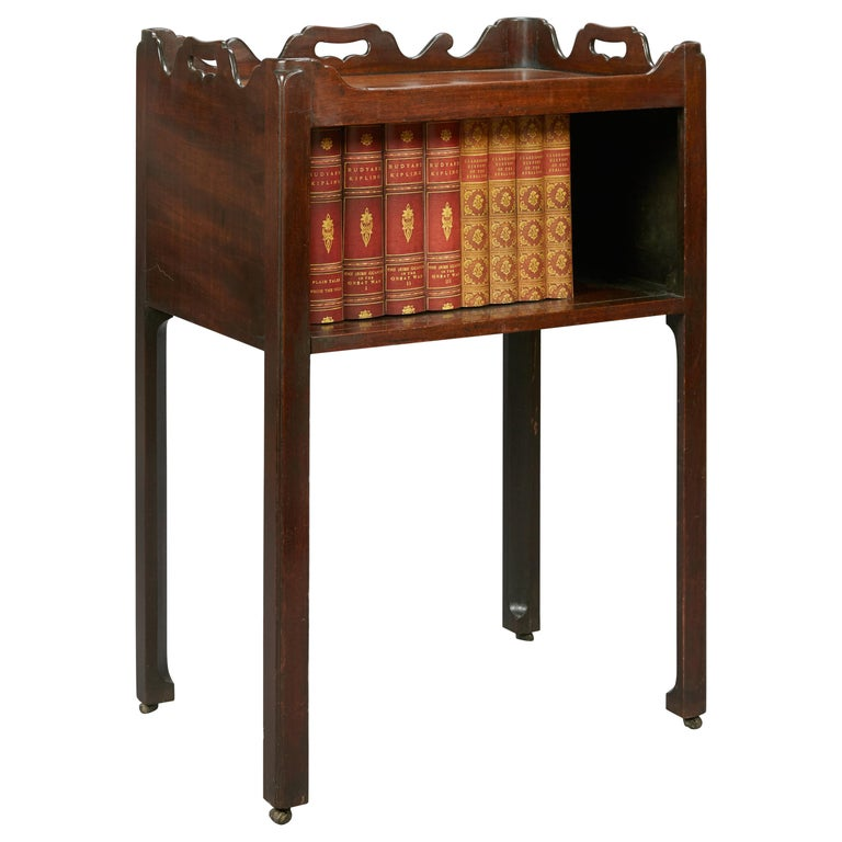 18th Century Mahogany Chippendale Period Open Fronted Night Stand/Commode