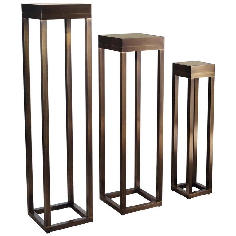 Bronze Pedestal XVI For Sale