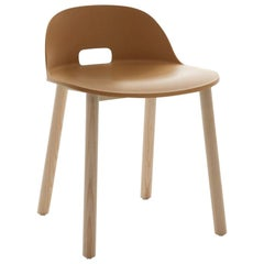 Emeco Alfi Chair in Sand and Ash with Low Back by Jasper Morrison