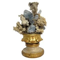 Naturalia Mineral Specimen, Italy, circa 1870 Splendid Wunderkammer Rarity