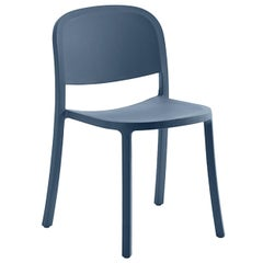 Emeco 1 Inch Reclaimed Chair in Blue by Jasper Morrison