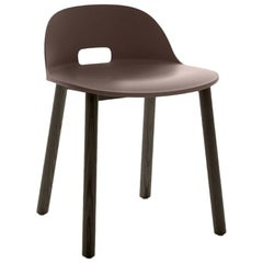 Emeco Alfi Chair in Brown and Dark Ash with Low Back by Jasper Morrison