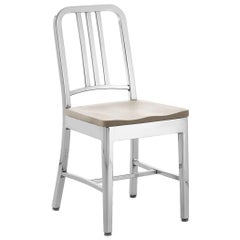 Emeco Navy Chair in Polished Aluminum and Ash by US Navy