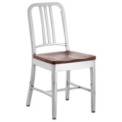 Emeco Navy® Chair in Polished Aluminum & Cherry by Us Navy