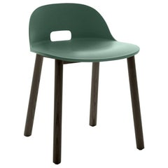 Emeco Alfi Chair in Green and Dark Ash with Low Back by Jasper Morrison