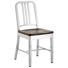 Emeco Navy® Chair in Polished Aluminum & Walnut by US Navy
