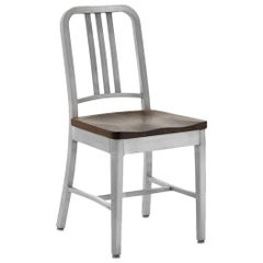 Emeco Navy Chair in Brushed Aluminum and Walnut by US Navy