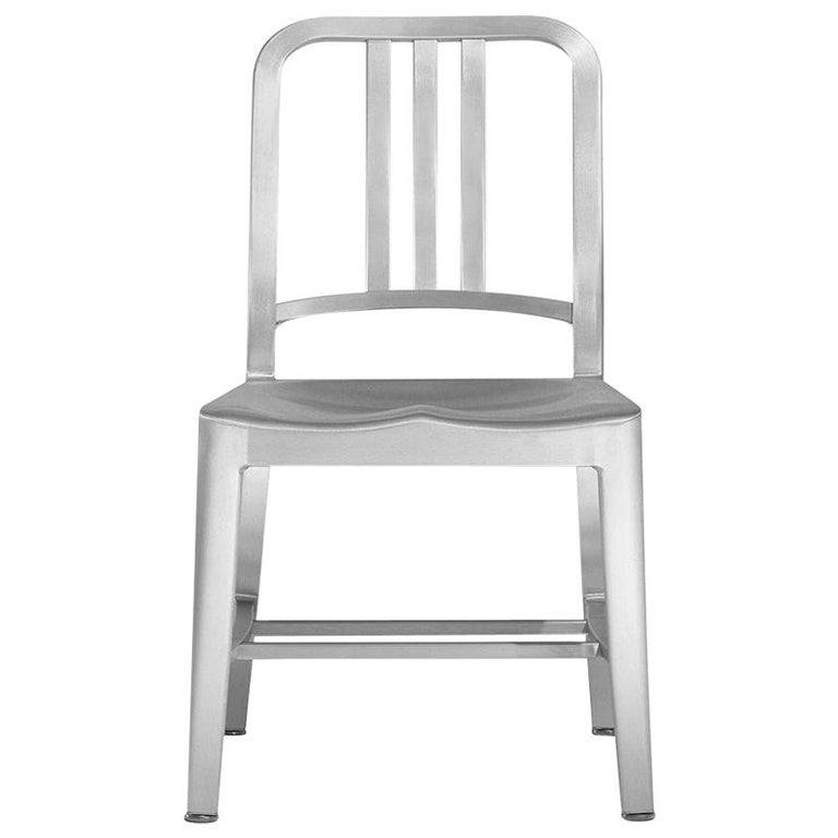 Emeco Navy Child's Chair in Brushed Aluminum by US Navy For Sale