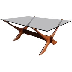 'Condor' Teak and Glass Coffee Table, Fredrik Schriever-Abeln
