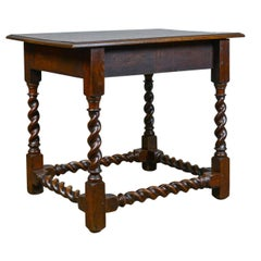 Antique Side Table, English, Victorian, English, Oak, Late 19th Century
