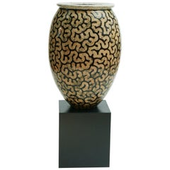 Giant Per Weiss Stonewear Floor Vase