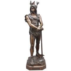 Large 19th Century Bronze Figure of Vercingetorix