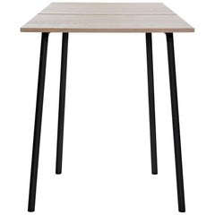Emeco Run Small High Table in Black Powder-Coat & Ash by Sam Hecht & Kim Colin