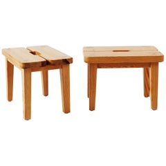 Stools in Pine