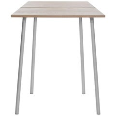 Emeco Run Small High Table in Aluminum and Ash by Sam Hecht and Kim Colin