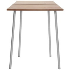 Emeco Run Small High Table in Aluminum and Cedar by Sam Hecht & Kim Colin