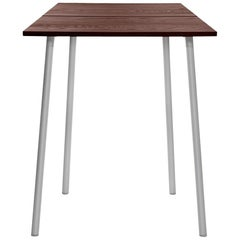 Emeco Run Small High Table in Aluminum and Walnut by Sam Hecht & Kim Colin