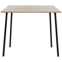 Emeco Run Medium High Table in Black Powder-Coat & Ash by Sam Hecht & Kim Colin