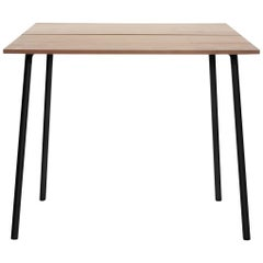Emeco Run Medium High Table in Dark Powder-Coat & Cedar, Sam Hecht and Kim Colin