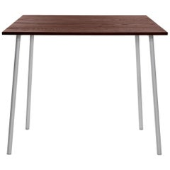 Emeco Run Medium High Table in Aluminum and Walnut by Sam Hecht & Kim Colin