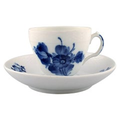 5 Set of Royal Copenhagen Blue Flower, Coffee Cup and Saucer