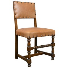 Set of Six Antique Dining Chairs, Edwardian, 17th Century Revival, Oak