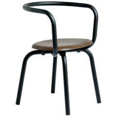 Emeco Parrish Side Chair in Black Powder-Coat and Walnut by Konstantin Grcic