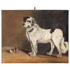 'Fido & Guard' Painting, Oil on Canvas, 1834