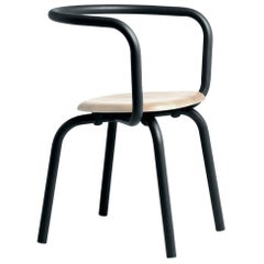 Emeco Parrish Side Chair in Black Powder-Coat and Ash by Konstantin Grcic