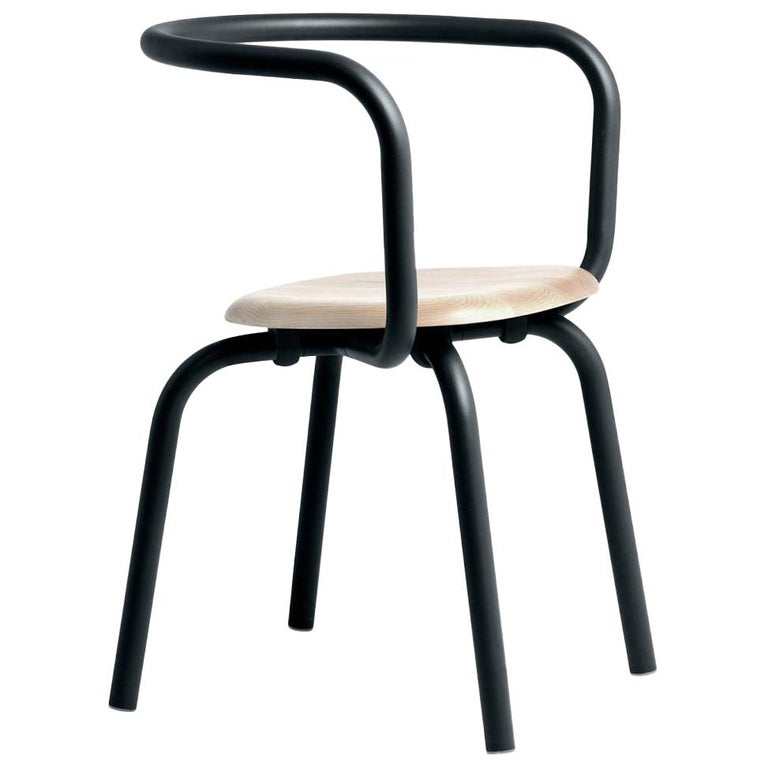 Emeco Parrish Side Chair in Black Powder-Coat and Ash by Konstantin Grcic For Sale