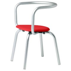 Emeco Parrish Side Chair in Aluminum and Red by Konstantin Grcic