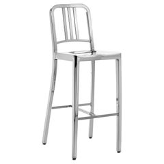 Emeco Navy Barstool in Polished Aluminum by US Navy