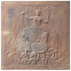 19th Century French 'Apollo with Horses' Fireback