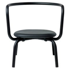 Emeco Parrish Lounge Chair with Black Powder-Coat & Black Seat, Konstantin Grcic