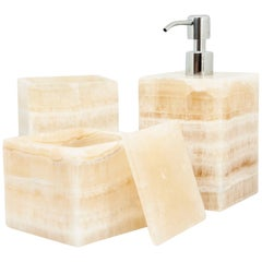 Luxury Unique Squared Set for Bathroom in Onyx