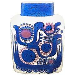 Royal Copenhagen Danish Modern Blue Lilac Tenera Vase by Berte Jessen, 1960s