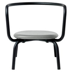 Emeco Parrish Lounge Chair with Black Powder-Coat & Gray Seat, Konstantin Grcic