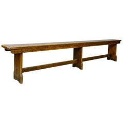 Antique Tavern Bench, Georgian, English, Oak, Six-Seat, Form, circa 1810