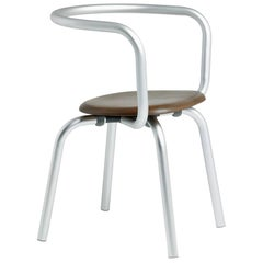 Emeco Parrish Side Chair in Aluminum and Walnut by Konstantin Grcic