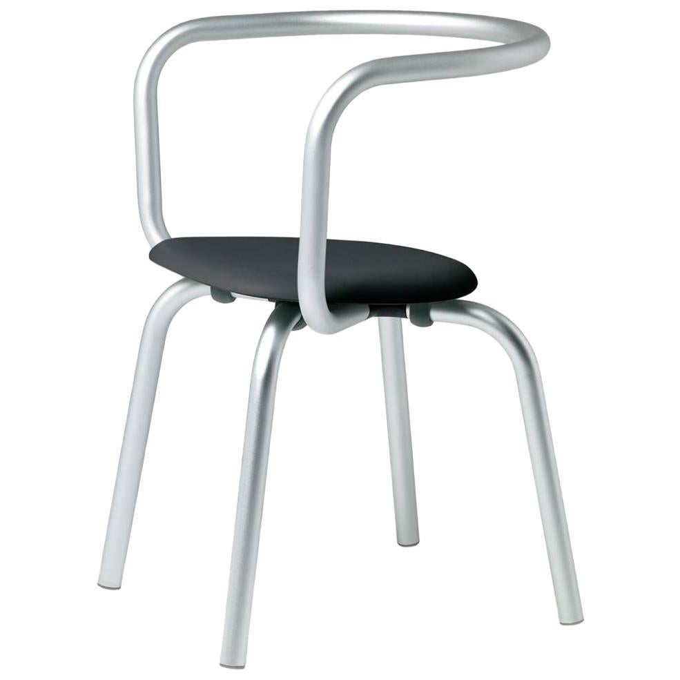 Emeco Parrish Side Chair in Aluminum & Black by Konstantin Grcic