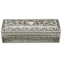 Antique Chinese Export Silver Box by Wang Hing & Co, circa 1890