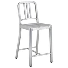 Emeco Navy Counter Stool in Brushed Aluminum by US Navy