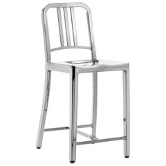 Emeco Navy® Counter Stool in Polished Aluminum by US Navy