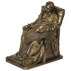 """Last Days of Napoleon"" Antique French Bronze Sculpture by Vela & Barbedienne"