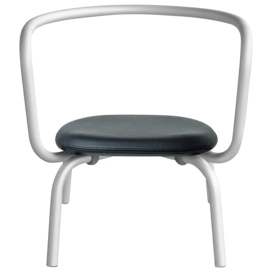 Emeco Parrish Lounge Chair in Aluminum w/ Black Seat by Konstantin Grcic