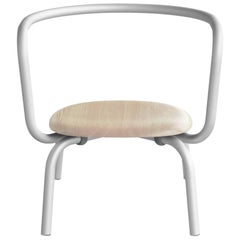 Emeco Parrish Lounge Chair in Aluminum w/ Ash Seat by Konstantin Grcic