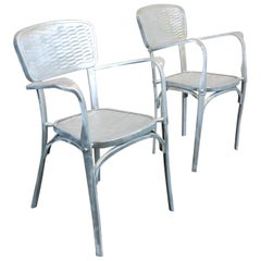 Pair of 1940s French Aluminium Dining -Side Chairs