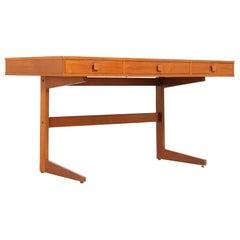 Danish Modern Cantilever Floating Desk by Georg Petersens
