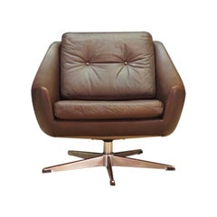 Danish Design Sessel Leder Retro Klassisch